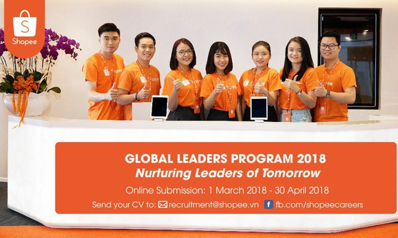 Shopee tìm kiếm nhà lãnh đạo tài năng