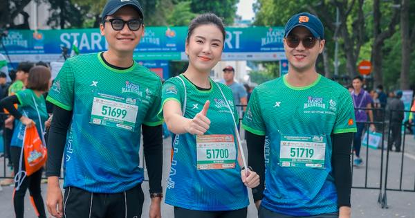 """Diễn viên Xuân Nghị, Thanh Sơn lần đầu chạy thi cùng """"hot girl"""" thời tiết Mai Ngọc của VTV"""