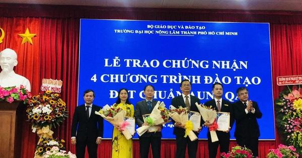4 chương trình đào tạo của Trường ĐH Nông lâm TP HCM đạt chuẩn AUN-QA