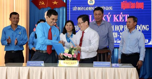 Báo Người Lao Động ký kết hợp tác với LĐLĐ tỉnh Tiền Giang
